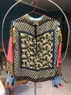 Marni women's long sleeve silk like top blouse size 40