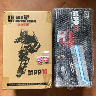 Transformers Weijiang - MPP10 Optimus Prime & Trailer plus 2 Free 3D autobot logo for the trailer (MISB)