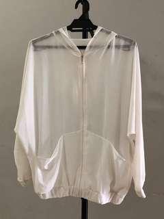 Chiffon hoodie jacket