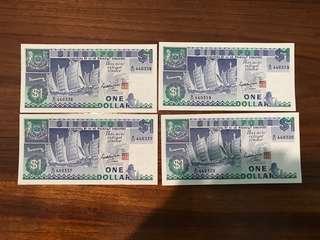 $1 Ship series 2 pairs running number