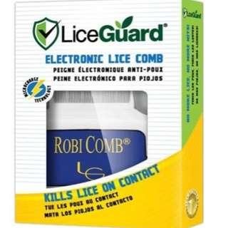 LiceGuard RobiComb Electronic Flea Tick Lice Zapper Zapping Comb Brush