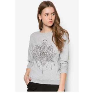 BN New Look Mystic Lotus Sweater Pullover in Grey
