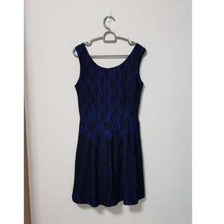 Lace Dress in Royal Blue