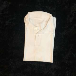Plain White Polo Shirt