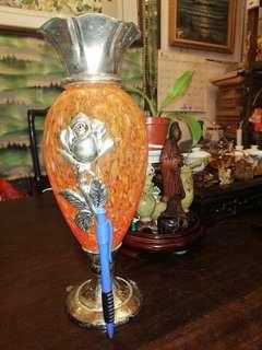 玻璃花樽( 高一尺寬四吋)( 來路嘢)