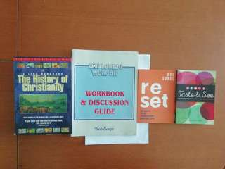 New. Books on various topics. Written by Ginny Kubitz Moyer and Bob Sorge and Dr Tim Dowley