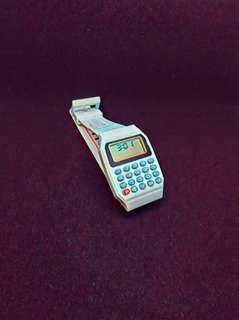Calculator White Watch