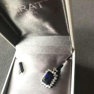 Carat London sapphire pendant