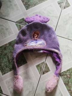 Sofia the first winter cap