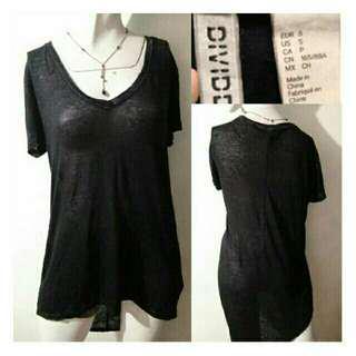 SALE preloved classy H&M small long back black cotton shirt