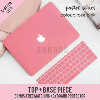 📣INSTOCKS📣 Pastel Rose Pink Macbook Laptop Shell Hard Case Protector