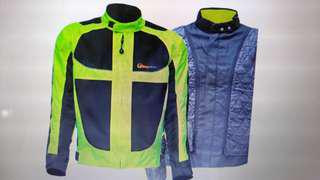BRIGHT Safety Riding PADDED Jacket Size 2XL