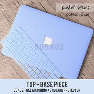 📣INSTOCKS📣 Pastel Blue Macbook Laptop Shell Hard Case Protector