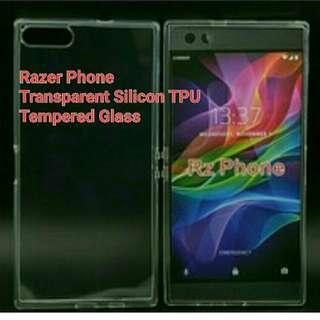 Razer Tempered Glass + tpu silicon case