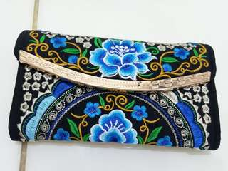 刺繡民族圖案銀包 袋 embroidered chain shoulder bag wallet