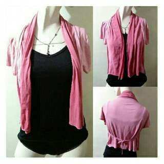 SALE preloved classy small pink cover up with scarf style