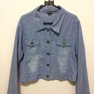Jaket Jeans Wanita/ Cropped Denim Jacket