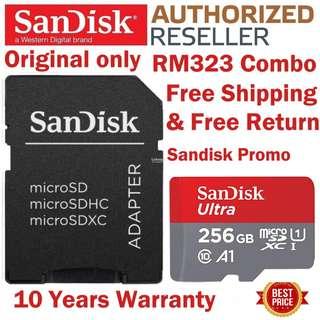 Original SanDisk 256GB Micro SD Card 100MB/s Ultra A1 C 10