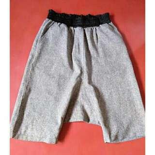SALE preloved gray garterized hiwaist kneelength harem pants