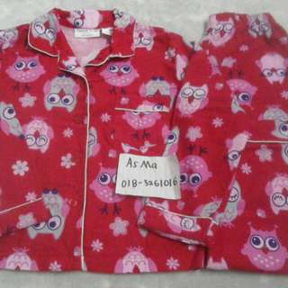(inc pos wm) pyjamas cotton girl 5 years like new