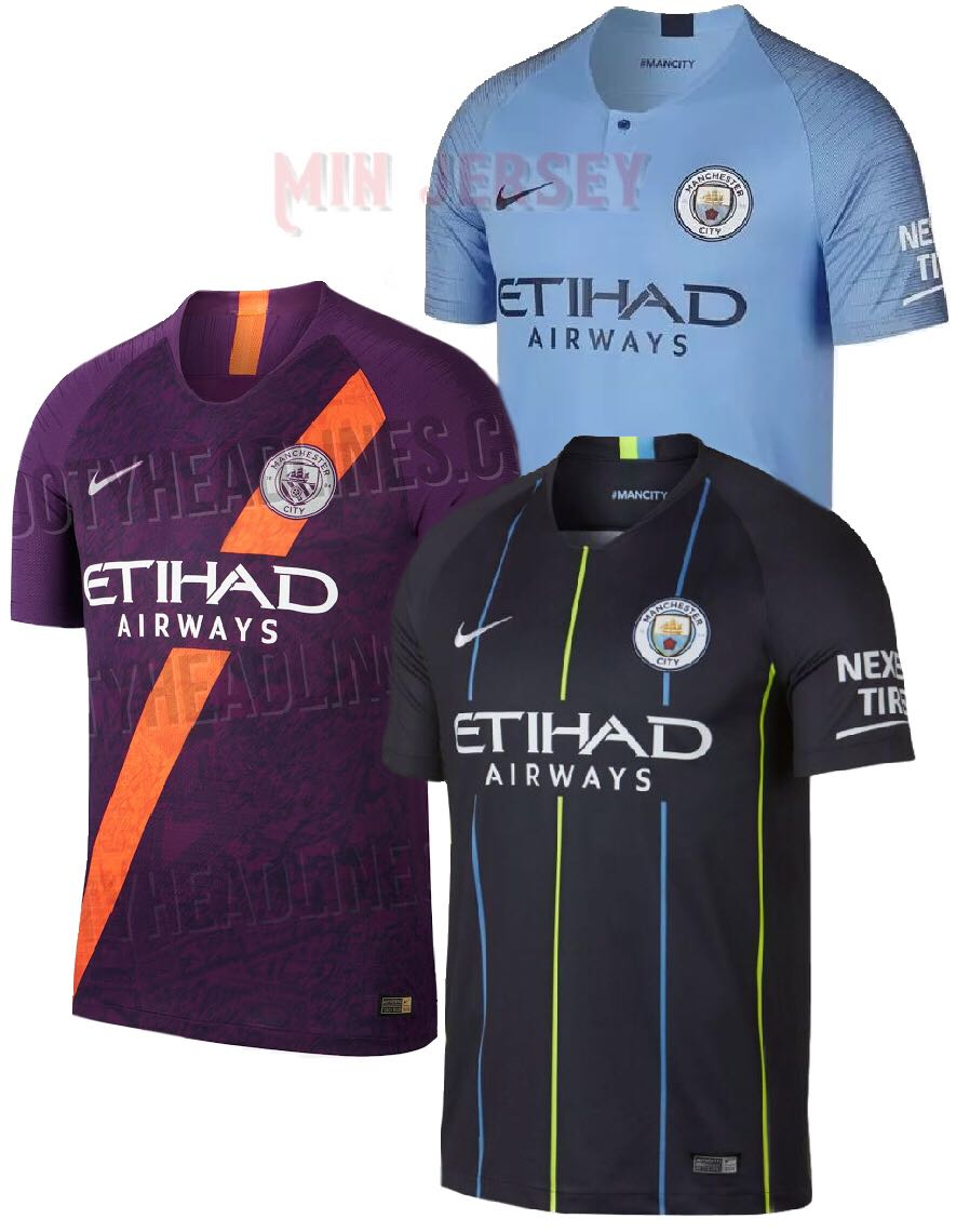 buy popular 6e1be ec4c2 18/19 Manchester City kits on Carousell