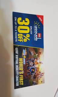 30% off legoland malaysia up to 4 tickets