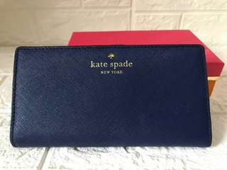 Kate Spade Cameron Stacy Wallet (Navy)