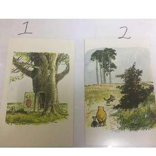 小熊維尼明信片 winnie the pooh postcard