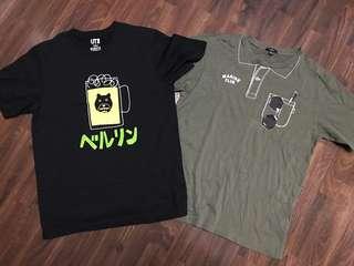 Uniqlo Bossini Tshirt Bundle for Men (2 pcs for $5)