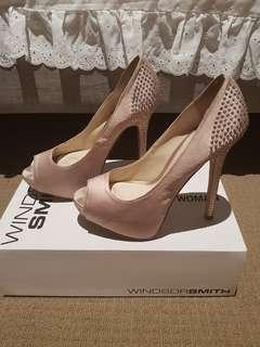 Windsor Smith Shine Champagne Heels