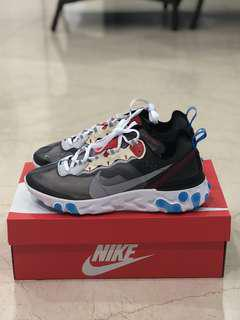 Us 8 & Us 8.5 Element react 87 dark grey blue platinum