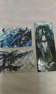 🚚 【動漫商品】黑岩射手 卡貼 書籤貼