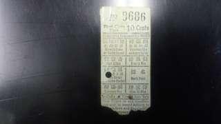 戰前香港電車票---頭等