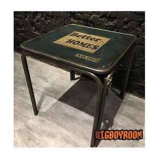 【BIgBoyRoom】工業風家具 美式鐵製字母茶几 LOFT法式舊化粗獷攝影道具復古桌子餐桌邊桌 酒吧餐廳飯店大廳民宿