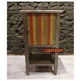 【BIgBoyRoom】工業風家具 美式彩色嬉皮床頭櫃 玄關櫃LOFT美式復古櫃子斗櫃 陳列桌攝影道具酒吧餐廳飯店大廳