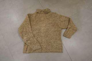 Beige Knitwear (buttons turtleneck)