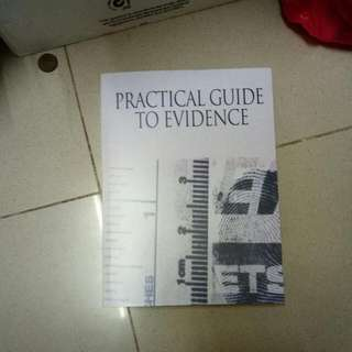 Practice Guide To Evidence (PHOTOCOPY)