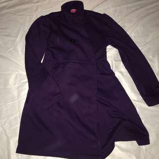 purple long coat