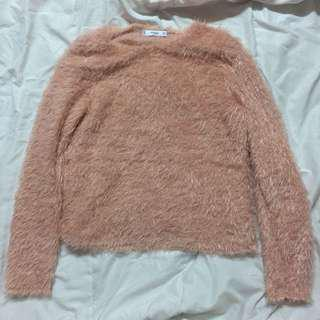 Mango Pink Fur Sweater