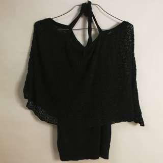 (sale) Lace Black Top