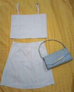Sleeveless and skirt pair