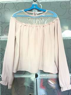 Dusty Rose Pink Longsleeve Top