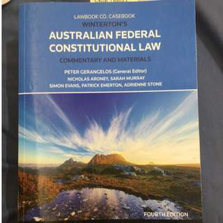 Australian Federal Constitutional Law 4th Edition