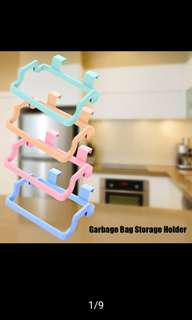 Plastic cabinet organizer kitchen hanging garbage trash bag holder