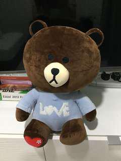 55cm Brown Line Bear