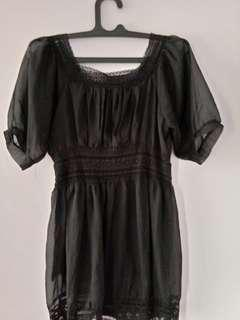 Dress hitam elegan