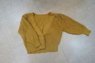 Knit Cardigan (Yellow Mustard)