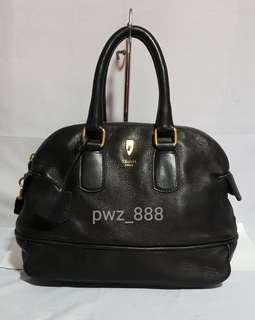 Authentic CELINE Deerskin Boston Leather Bag