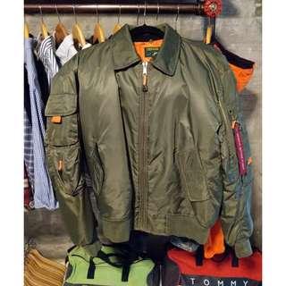 Olive Green Flight MA-1 Bomber Jacket