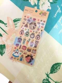 Alice in the wonderland sticker sheet